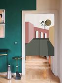 可愛時尚棉麻門簾E643 廚房半簾 咖啡簾 窗幔簾 穿杆簾 風水簾 (65cm寬*90cm高)