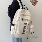 書包女韓版大容量電腦背包男後背包中學生初中生字母後背大學生 夏季狂歡