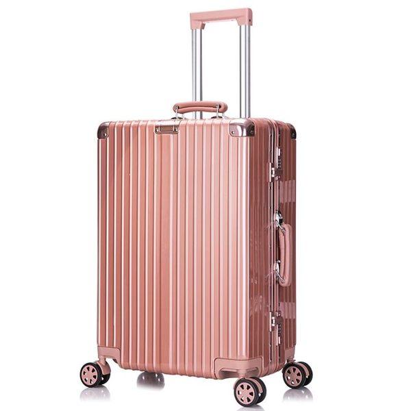 珂羅詩鋁框拉桿箱女行李箱學生旅行箱萬向輪男20密碼箱24吋皮箱子  魔法鞋櫃 igo