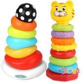 疊疊樂杯套圈彩虹圈0-6個月寶寶兒童嬰兒玩具益智套塔積木1-3歲一
