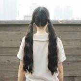 少女寫真玉米須燙雙馬尾假發 蓬松自然綁帶微卷波浪馬尾辮泡面頭【販衣小築】