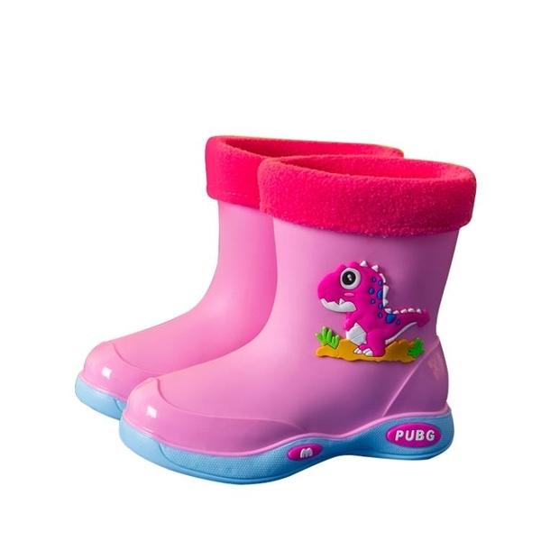 雨鞋 四季兒童雨鞋女加絨保暖可拆卸水鞋防滑防水雨靴幼童中小童男孩靴【快速出貨八折鉅惠】
