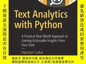 二手書博民逛書店Text罕見Analytics With PythonY364682 Dipanjan Sarkar Apre