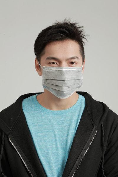 【雨晴牌-抗UV四層活性碳不織布口罩】(A級高效能) 舒適透氣好戴 騎車防廢棄味 檢驗抗UV達99%