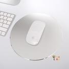 滑鼠墊 電腦滑鼠墊蘋果筆記本金屬圓形鋁合金樹脂定製定做通用款台式家用大小號可愛男女 5色