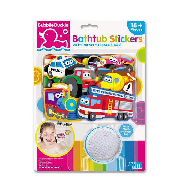 《 4M 》寶貝浴缸貼 - 交通工具 Bathtub Stickers Transportation / JOYBUS玩具百貨