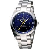 Valentino 范倫鐵諾 輝煌年代經典腕錶-寶藍 SM6405S藍