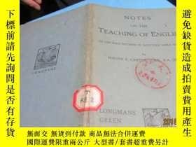 二手書博民逛書店notes罕見on the teaching of englis