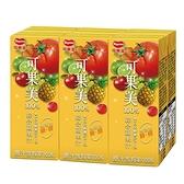 可果美蕃果園100%綜合蔬果汁200ml*6【愛買】