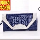 真皮手拿包-商務質感時髦俐落鱷魚紋女信封包8色68k40【巴黎精品】