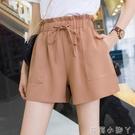 高腰短褲女寬鬆2020夏季新款韓版顯瘦花苞褲大碼闊腿抽繩工裝短褲 蘿莉館品