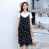 ★韓美姬★中大尺碼~簡單圓領唯美下擺甜美兩件式洋裝(XL~4XL)