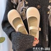 瑪麗珍小皮鞋女2020早春新款ins日系可愛學生百搭一字扣圓頭單鞋 怦然心動