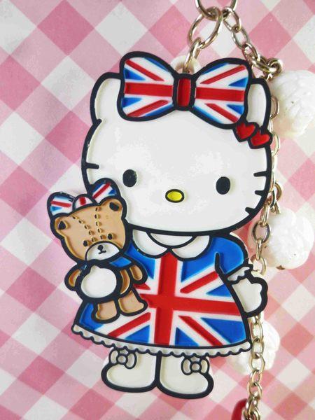 Hello Kitty 凱蒂貓~限定版手機吊飾-英國