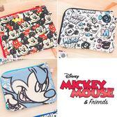 ❤99元免運❤迪士尼DISNEY 米奇MICKEY MOUSE 格層收納包 零錢包 旅行包 萬用包 外出包