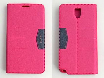 gamax完美系列 Samsung Note 3 Neo 4G LTE(SM-N7507) 簡約綴色側翻手機保護皮套 磁吸插卡側立 內TPU軟殼全包