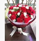圓形花束玫瑰香皂花禮盒送女友媽媽閨蜜肥皂花生日禮物【紅色康乃馨】
