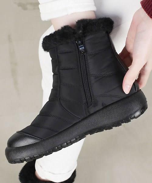【2wenty6ix】正韓 ★ SC Casual Boots 簡約休閒 尼龍拼接皮革 蓬鬆短毛絨內鋪裡 內側拉鍊 舒適厚底短靴