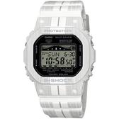 【台南 時代鐘錶 CASIO】G-SHOCK 宏崑公司貨 GWX-5600WA-7 復古仿木條紋 太陽能電波錶