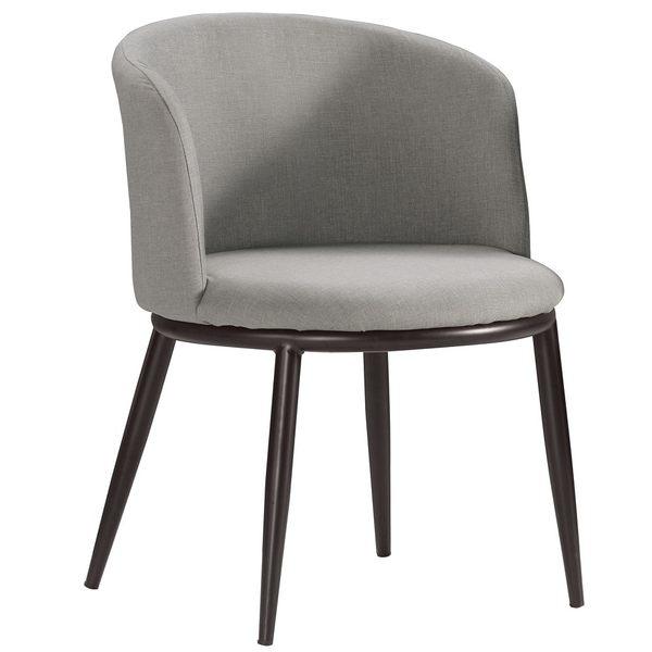 【森可家居】德魯餐椅(灰色布)(單只)  7CM519-15 洽談椅 休閒椅
