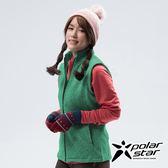 PolarStar 女 刷毛保暖背心『綠』P18244 戶外 休閒 登山 露營 保暖 禦寒 防風 刷毛