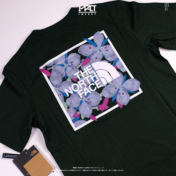 IMPACT The North Face T-Shirt 北臉 墨綠 深綠 短T 花花 NF0A4NF9
