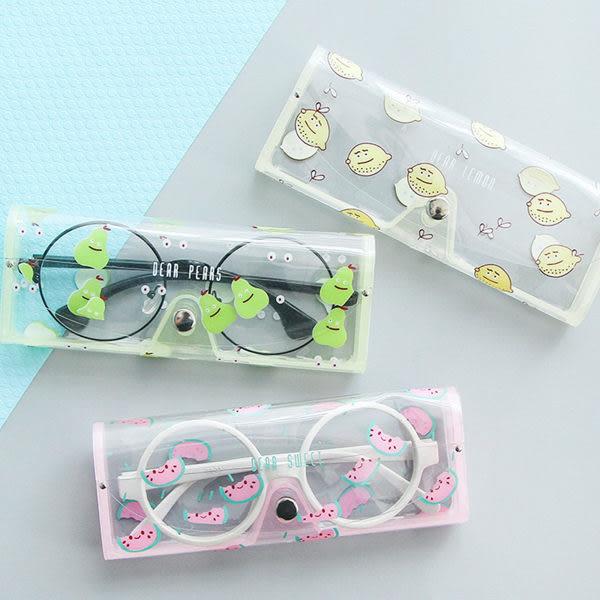 【00009】 可愛水果 動物 透明眼鏡盒 大象 兔子 長頸鹿 鯨魚