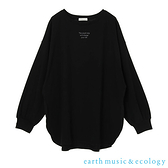 「Autumn」The small step側開衩長袖T恤 - earth music&ecology