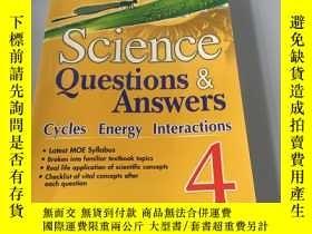 二手書博民逛書店英文原版:Science罕見Questions Answers