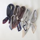 韓國條紋小方巾絲巾百搭新款裝飾文藝ins小領巾 黛尼時尚精品