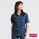 Levis 女款 牛仔襯衫 / V型雙口...