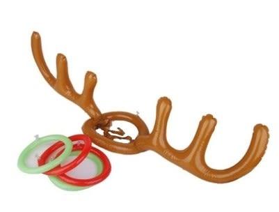 [協貿國際]  兒童充氣聖誕麋鹿角頭箍投擲套圈圈玩具 (1入)