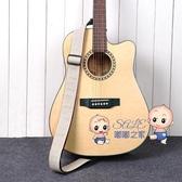 吉他背帶 簡約棉麻民謠木吉他背帶 個性加寬吉他肩帶電吉他背帶男女吉他帶 5色