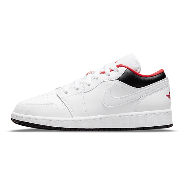 Air Jordan 1 Low (GS) 女鞋 大童 喬丹 休閒 皮革 白 紅 黑【運動世界】553560-160