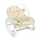 費雪Fisher 三麗鷗安撫躺搖椅-震動功能(FBEHBW26F) 2579元+贈動物造型嬰兒髮梳組