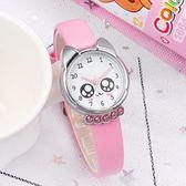 韓版兒童手錶女孩男孩中小學生女童電子石英錶卡通可愛防水皮帶錶9號潮人館