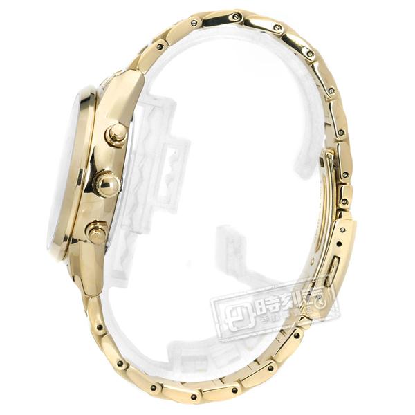 SEIKO 精工 / V175-0EX0G.SSC822J1 / 廣告款 LUKIA 太陽能 鑽石 不鏽鋼手錶 銀白x鍍香檳金 36mm