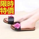 平底涼鞋高貴-經典款透氣休閒夏季女拖鞋子2色54l53【巴黎精品】