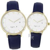 【台南 時代鐘錶 agnes b.】優雅法式人文 手寫風簡約時尚情人對錶 BS9005J1 B4A004J1