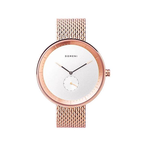 DOMENI COMPANY 316L不鏽鋼玫瑰金腕錶 經典米蘭錶帶 (40mm/RGM02)