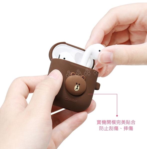 LINE AirPods 充電盒 耳機盒 保護套 iPhone 藍牙耳機 矽膠收納包 蘋果無線 熊大 防塵套 防滑