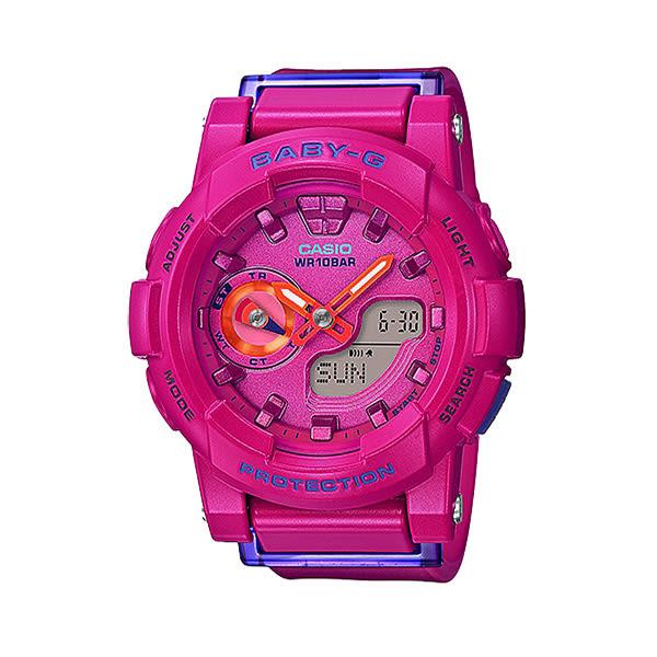 CASIO BABY-G 慢跑女孩運動休閒腕錶-BGA-185FS-4ADR