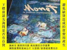 二手書博民逛書店2手法文罕見Monet Le Jardinier impress