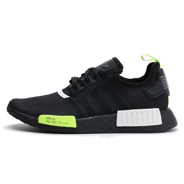 ADIDAS 休閒鞋 NMD R1 黑 黑綠 螢光綠 慢跑 男 (布魯克林) EF4268