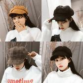 帽子女秋冬天新款百搭潮日繫韓版英倫畫家報童帽八角帽毛呢貝雷帽