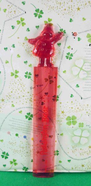【震撼精品百貨】日本精品百貨~尺-帶帽熊圖案-紅色