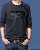 秋冬新款上衣長袖T恤男士寬鬆型圓領加肥加大碼男裝體恤衫潮H