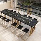 吧臺桌 鐵藝簡約長條桌子窄家用客廳靠墻吧...