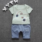 男童夏季套裝男孩兩件套嬰兒童裝寶寶短袖夏【奇趣小屋】