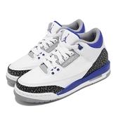 Nike 籃球鞋 Air Jordan 3 GS Racer Blue 白 藍 爆裂紋 女鞋 大童鞋 AJ3 喬登 【ACS】 398614-145